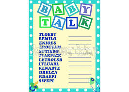 boy baby shower game baby word scramble baby shower game for