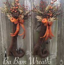Halloween Door Wreaths Double Door Fall Swags Trendy Tree Custom Designer Creations