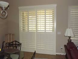 shutters faux white living room dining sliding door jpg
