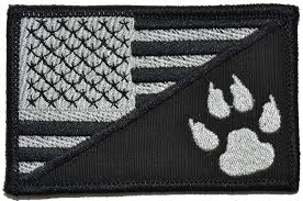 American Flag Morale Patch Amazon Com Usa Flag Tracker Paw Scout Emblem 2 25x3 5 Morale
