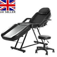 black beauty salon chair massage table treatment tattoo therapy