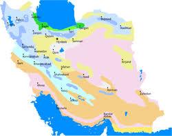 map or iran geography of iran