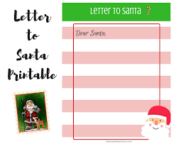 printable letter from santa santa claus template letter letters