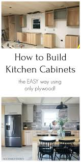 how to build your own kitchen cabinets cheap diy kitchen cabinets made from only plywood kitchen
