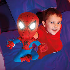 spirit halloween spiderman marvel 257smn spider man plush pal night light soft toy by go glow
