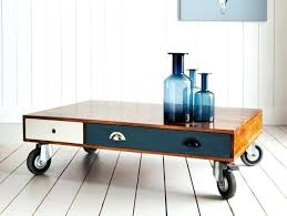 side table on casters coffee table with wheels coffee table wheels casters pottery barn