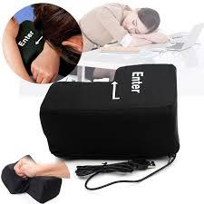 toy anti stress relief enter key office desk nap pillow novelty usb big enter key