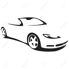 sports car drawing vector silhouette sports car royalty free cliparts vectors and