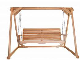 Patio Swing Frame by Two Piece Cedar Swing And A Frame Set Af72us