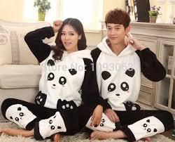 robe de chambre homme cachemire flanelle épaisse cachemire peignoir pyjamas mignon panda à