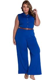 royal blue jumpsuit chic standup collar royal blue belted wide leg jumpsuit