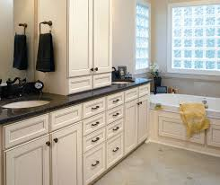 Bathroom With White Cabinets - painted white kitchen cabinets aristokraft cabinetry