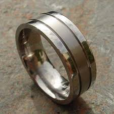 mens wedding rings uk grooved titanium wedding ring love2have in the uk