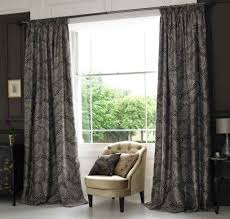interior design wonderful black living room curtain with tufted