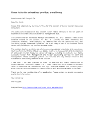 Email For Sending Resume To Hr Sample Resume Emails Doc 640542 Email Cover Letter Format 6 Easy
