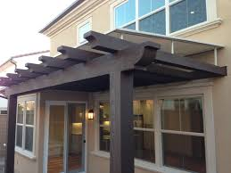 Build An Awning Over Patio by Part Roof Part Pergola Outdoor Decoration Ideas And Styles
