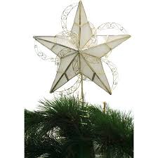 time ornaments capiz gold circle tree topper