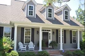 i love that gray and white with the shutters change of heart