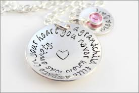 grandchildren necklace beautiful personalized sterling silver grandchild necklaces