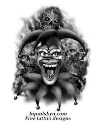 ink evil jester tattoos designs