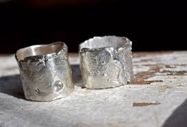 artisan wedding rings wedding rings artisan sapphire sterling silver recycled