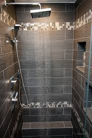Rain Shower Bathroom Design by Large Tiles With Smaller Accent Strips Shower With Emser Tile U0027s