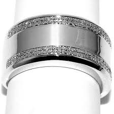 wide band engagement rings mens diamond wedding band ring wide 12 5mm comfort fit white gold