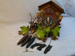 How To Fix A Cuckoo Clock Vintage 09 1969 Wood Deer Cuckoo Clock West Germany Products