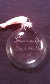 etched glass ornaments personalized damask wedding bell engraved ornament wedding christmas