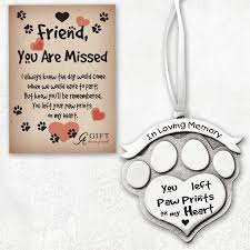 in loving memory paw print ornament