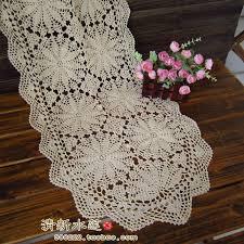 Crochet Table Runner Pattern Russian Design Fashion Handmade Hook Needle Table Runner 100