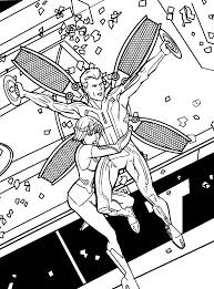 tron legacy quorra hold clu tight coloring pages tron legacy