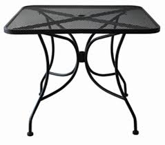 Stainless Steel Patio Table Amazon Com Oak Street Manufacturing Od3030 Square Black Mesh Top