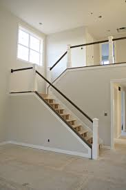thrifty decor chick dark stair railings with white balusters