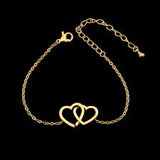 double heart charm bracelet images Double heart charm bracelet women accessories sunglasses jpg