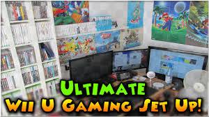 ultimate wii u gaming set up my nintendo room youtube
