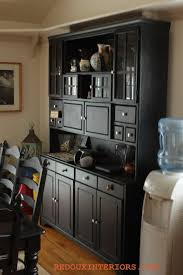 black painted hutch wish i had room for one of these diy