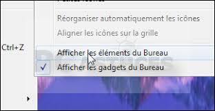 afficher sur le bureau masquer les icônes du bureau windows 7