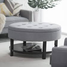 leather tufted storage ottoman furniture cream ottoman coffee table oval ottoman shoe storage