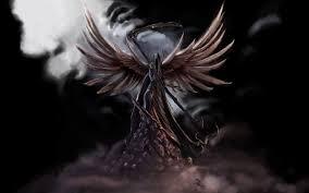 grim reaper with wings drawings wallpaper