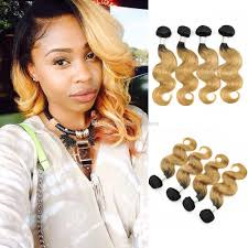 pictures of black ombre body wave curls bob hairstyles colored brazilian hair 3 bundles body wave t 1b 27 blonde ombre