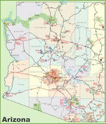Maps Of Arizona Arizona Sightseeing Map