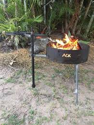 Grill Firepit Pit With Swinging Plate Grill