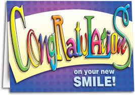 congrats on your new card congratulations on your new smile folding card smartpractice dental