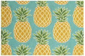 Pineapple Area Rug Suzanne Nicoll Studio Pineapples Teal Yellow Area Rug Reviews