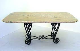 Table Bases For Granite Tops Lovely Wrought Iron Table Base For