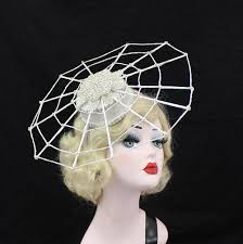white spiderweb hat web hat witch costume high fashion couture