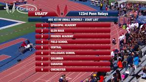 usatf tv videos girls 4x100m relay high small schools