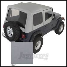 2017 jeep wrangler rugged exterior jeep parts buy rugged ridge replacement soft top skin grey denim