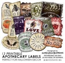 halloween jar labels apothecary bottle labels jar halloween printable paper art hobby